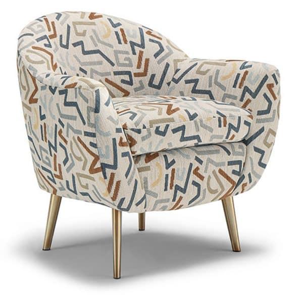 modern tub chair style kissly accent chair