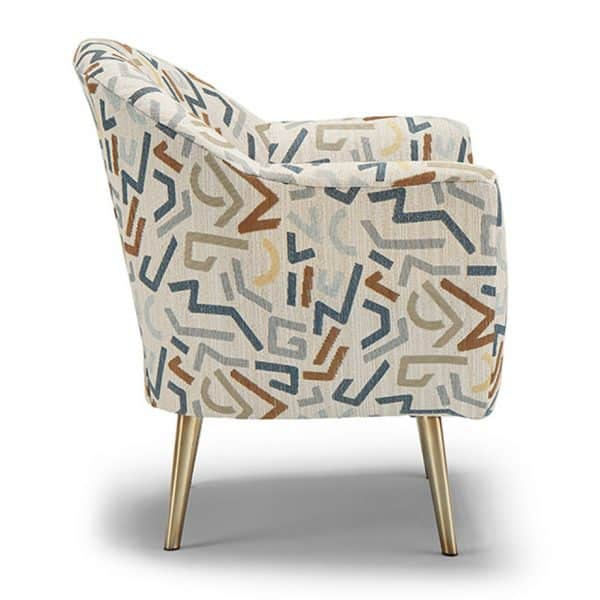 side view of kissly accent chair from best home furnishings