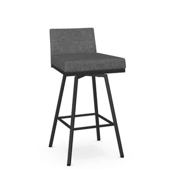 modern low back on linea low swivel stool