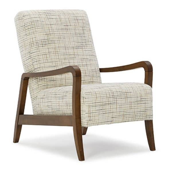 best hom furnishings rybe accent chair with dark wood frame