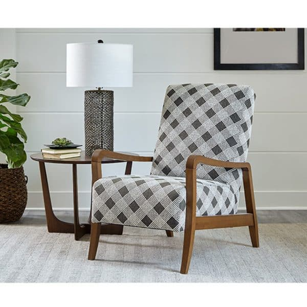 wood frame rybe accent chair