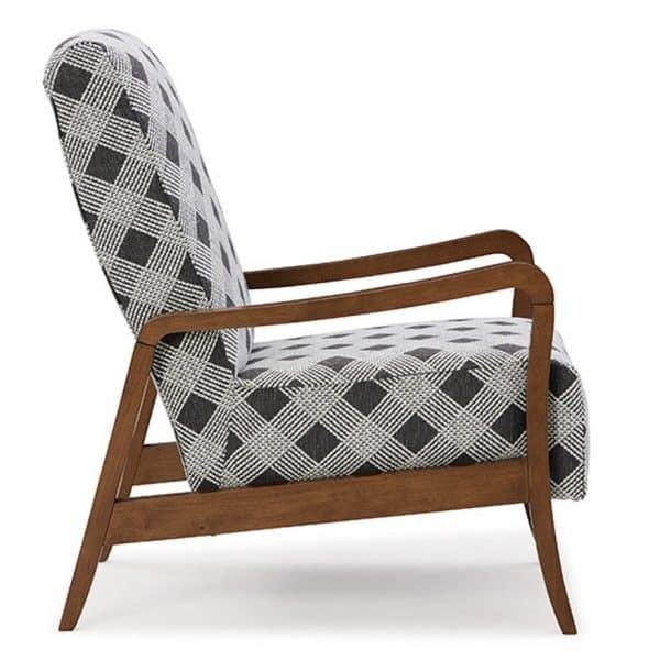 custom fabric rybe wood frame accent chair