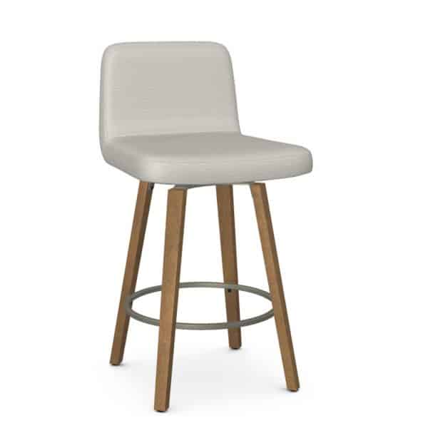 low fabric back option on new visconti swivel stool for island