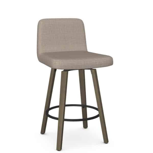amsico custom made visconti swivel stools with wood base
