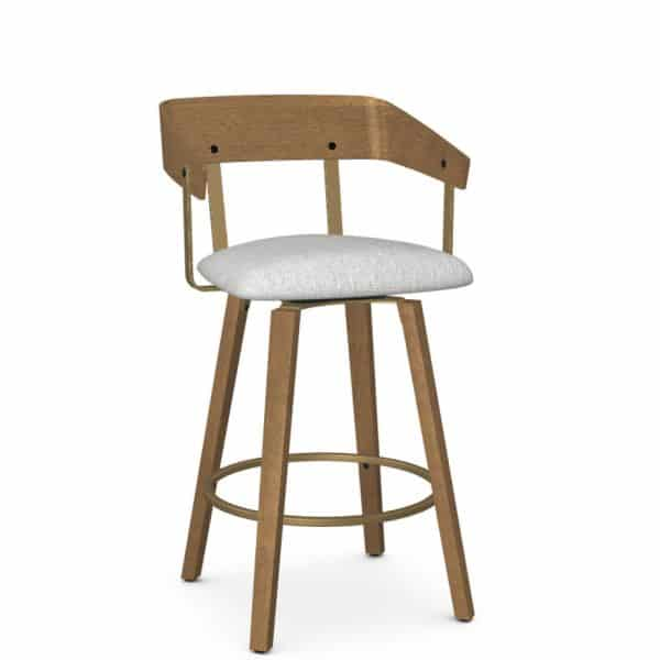 curved wood back on zao modern counter stool