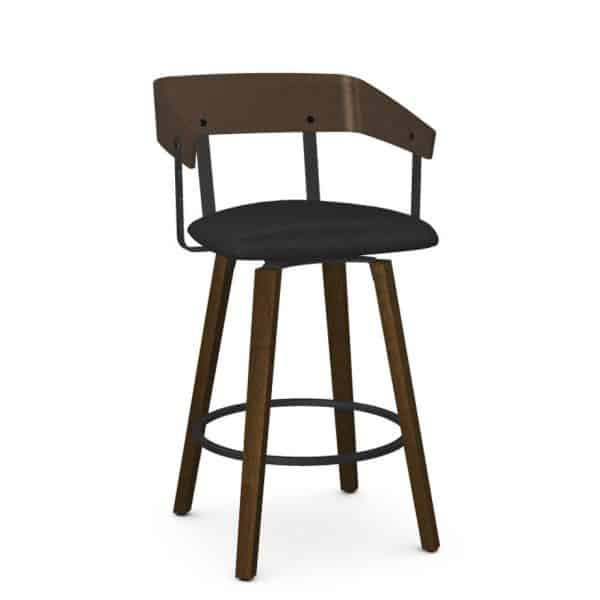 made in canada wood back and frame zao swivel stool