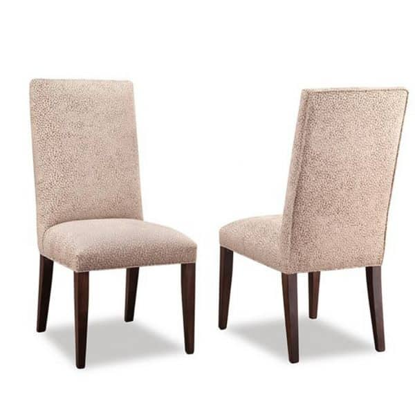 custom fabric canadian made cumberland upholstered chair in parsons style