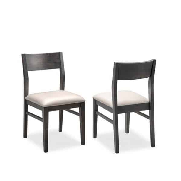 solid wood frame anata dining chair in modern low back design