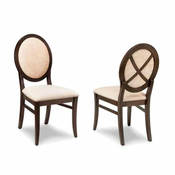 solid wood frame savona upholstered dining chair in traditional style